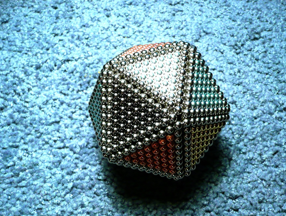 Как сделать шарик из неокуба 216 шариков